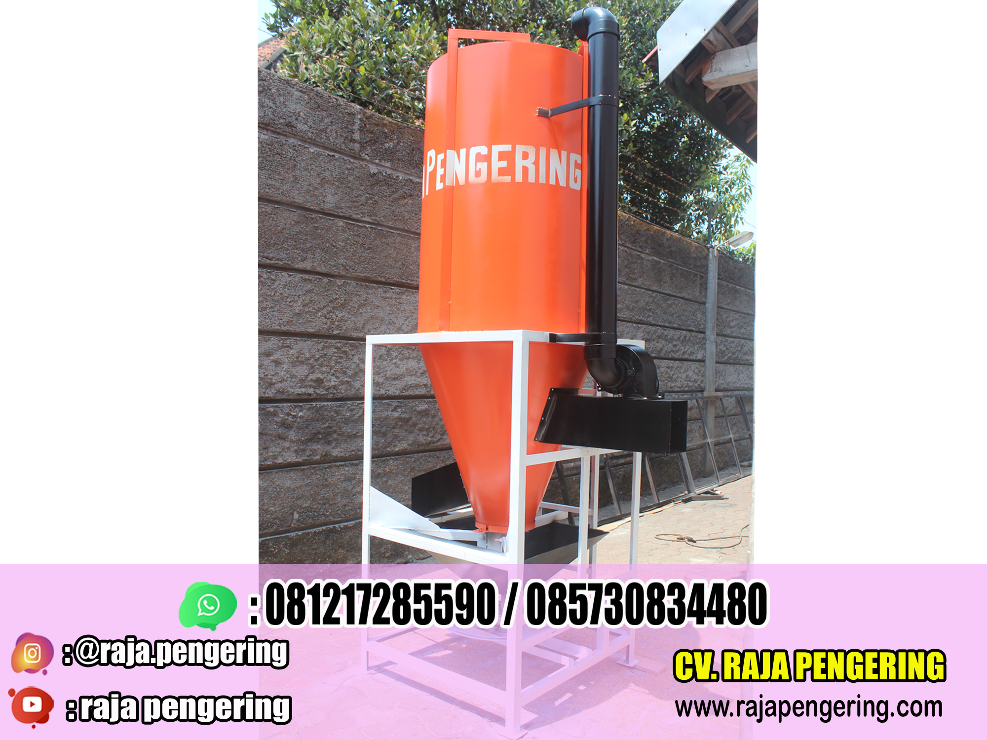 rotary dryer, mesin rotary dryer, mesin pengering padi dan jagung